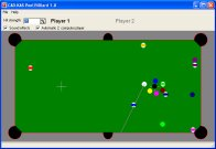 A screenshot of the program Pool Billiard 1.0