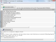A screenshot of the program Internet Data Extractor 1.0