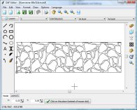 A screenshot of the program DXF Editor 1.0