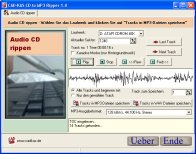 A screenshot of the program CD to MP3 Ripper 1.0