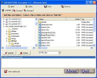 A screenshot of the program HTML-Encrypter 1.1